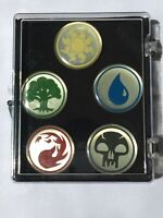 Mtg Magic Pin Set of 5 Mana Symbols Original Licensed Pin Set