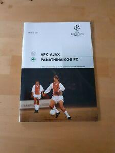 Ajax V Panathinaikos - Champions League Semi Final 1st Leg 1995/96