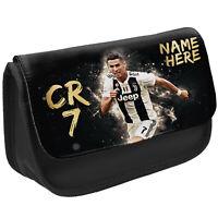 Ronaldo Pencil Case CR 7 School Stationary Juve Football Bag Personalised CR02
