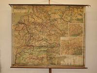 Schulwandkarte Wirtschaftskunde Deutsches Reich vintage wall map 204x170cm ~1919