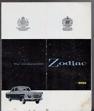 Ford Zodiac Saloon & Convertible Mk2 1959 UK Market Foldout Sales Brochure