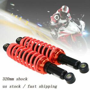 "12.5"" 320mm Red/Orange Motorcycle Shock Absorber Dampers Fit Yamaha Dirtbike"