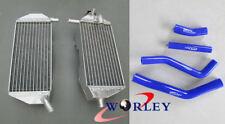 For YAMAHA YZF450 YZ450F 2010-2013 10 2011 2012 13 aluminum radiator & hose BLUE