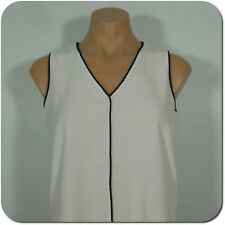 H & M Women's White V-Neck Sleeveless Blouse size 6