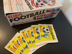 Box display sticker Eurofootball Panini 1976 with 7 packets ULTRA RARE