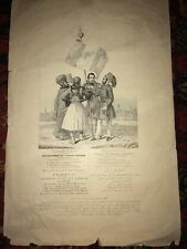 RARE GRAVURE XIXéme sur la TURQUIE RÉGÉNÉRATION DE L'EMPIRE OTTOMAN vers 1830