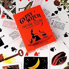 GYPSY WITCH Fortune Telling Playing Cards Divination Cartomancy CARD GAMES Tarot
