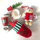 Lot of 6 Starbucks Christmas Ornaments Bearista, Cup + Saucer, Truck, Coffee Mug