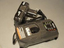 RYOBI ONE+ 18V LITHIUM ION P102 BATTERY AND P118 CHARGER COMBO,NEW