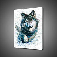 ABSTRACT WOLF CANVAS PRINT PICTURE WALL ART HOME DECOR FREE FAST DELIVERY