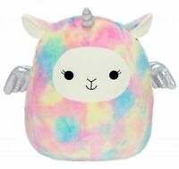 """Squishmallow Kellytoy Lucy-May The Rainbow Llamacorn 8"""" Plush Toy Pillow Pet"""