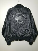 Vintage 70s Jack's Body Shop Colorado King Louie Satin Bomber Jacket Made In USA