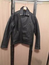 American Eagle Outfitters Black genuine  Leather  Motorcycle Jacket Mens Medium