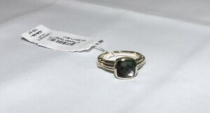 LAGOS Black Mother Of Pearl Doublet Sterling Silver Ring NEW Size 7