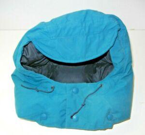 REI Teal Blue Warm DOWN WINTER HOOD Replacement Ski Jacket Hiking Coat Gear XXL