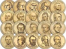 """A Lot of 20 Random Years """"Imperfect Uncirculated"""" Presidential Dollars US Coins"""