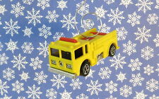 Custom Christmas Ornament 1/64 Scale Yellow Fire Truck Engine