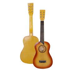 "25"" Beginners Kids Acoustic Guitar 6 String with Pick Children Kids Gift Orange"