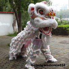 Wool Southern Lion Chinese Folk Art For Two Adult Lion Mascot Dance Costume Suit