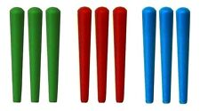 NEW Set of 9 Plastic Cribbage Pegs  - Standard Size in Green - Red - Blue