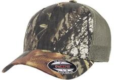 6911 Flexfit® Mossy Oak Hat Stretch Mesh Trucker Cap Mid Profile Fitted OSFM
