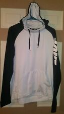 Nike Dri Fit Hoodie Men's Size M Medium Pull Over Hooded Long Sleeve Black White