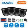 SANNCE 4pcs HD 2MP 1080P Outdoor IR CCTV Security Camera for Surveillance System