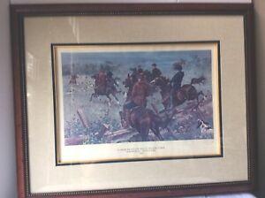 A Deer Hunt on Belle Meade Farm Nashville Signed Framed Numbered Out of Print