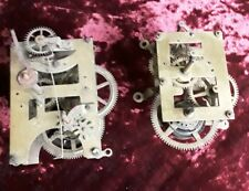 2 Antique American Wall Clock Movements-spares or repair