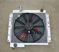 3ROW 62mm aluminum radiator&FAN For TOYOTA landcruiser 40SERIES BJ40 BJ42 DIESEL