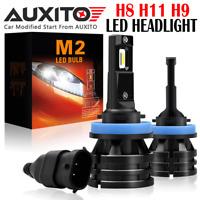 AUXITO H11 H9 H8 LED Headlight Bulb Kit Low Beam Bulb 6000K 20000LM M2 White EOA