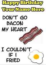 Bacon & Egg  Humour A5 Personalised Happy Birthday Greeting Card PID038
