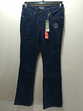 BNWT Ladies Sz 10 Rivers Brand Stretch Dark Blue Denim Bootleg Style Jeans