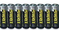 8 PowerEx 2700 AA NiMH Rechargeable Batteries With Free Maha Battery Case