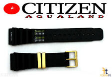 Citizen Aqualand 5862-F80103 19mm Black Rubber Watch Band 5864-F80103 H19632
