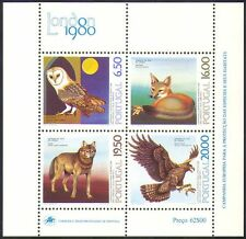 Portugal 1980 Birds/Animals/Nature/Owl/Eagle/Fox/Wolf/Wildlife 4v m/s (n10846)