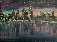 Original Paintings on Canvas(City lights)
