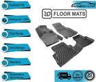 3D Molded Interior Car Floor Mat for Hyundai Ioniq Hybrid 2016-2020  Black