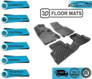 3D Molded Interior Car Floor Mat for RENAULT CLIO 5  2020-  (Black)