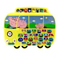 Peppa Pig toy Alphaphonic Campervan Board Electronic Learning Tablet Lights vgc