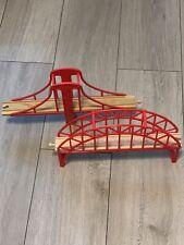 RED BRIDGE BUNDLE Thomas Wooden Railway Train Track For IKEA Brio Etc See Cranky