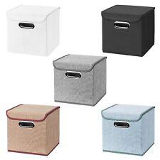 3x Faltbox 25 x 25 x 25 cm Aufbewahrungsbox Spielzeugkiste Kiste Korb mit Deckel