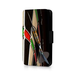 Dart On Dartboard Darts Phone Flip Case For iPhone - Huawei - Google