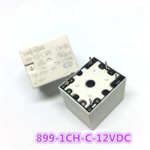Songchuan 899-1CH-C 12VDC 10A 277VAC Power Relay 5 Pins