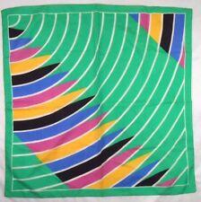 "Liz Sinclair Ladies Polyester Scarf 27"" X 27"" Multi-Color Geometric"