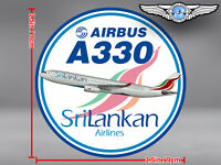 SRILANKAN AIRLINES ROUND AIRBUS A330 DECAL / STICKER
