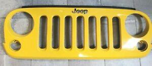 2007-2018 Jeep Wrangler JK Grille OEM Baja Yellow Mopar 1BM91TRM #29