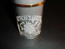 Circa 1910 Stroh's Beer Etched Glass, Detroit, Michigan