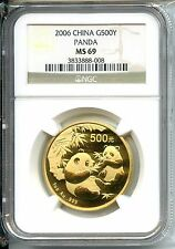 CHINA  PANDA 2006  NGC MS 69  500 YUAN  GOLD 1 OZ