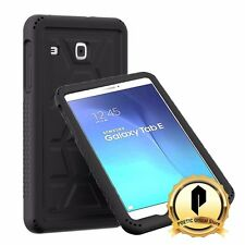 Samsung Galaxy Tab E 9.6 Poetic [TurtleSkin] Drop Protection silicone Case Black